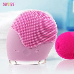 $enCountryForm.capitalKeyWord Australia - Silicone Face Brush Electric Exfoliating Washing Rechargeable Wash Pore Cleaner Vibration Introduction Beauty Instrument