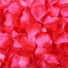 romantic wedding tables Canada - 100pcs kg Wedding Artificial Flowers Romantic Rose Petals Wedding Valentine's Favor Party Table Carpet Confetti Decorations can customized
