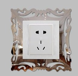 Design Photo Frames Australia - Acrylic Mirror 3D Switch Sticker Removable Photo Display Frame Switch Wall Decals Home Living Room Decoration