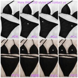 venda por atacado Misture 100 estilos de moda Swimwear Bikini Set For Women menina Swimsuit com Pad atadura de duas peças de três peças sexy maiô