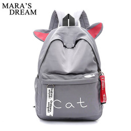 Cute Backpacks For Teenage Girls Australia - good quality Cute Cartoon Cat Ears Backpack Girl Schoolbag For Teenage Women Back Pack Nylon School Backpack Famale Teen Bagpack
