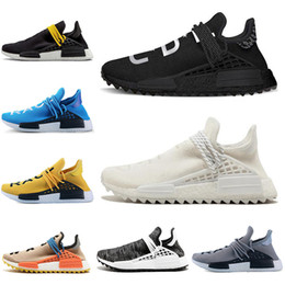 Discount human race lighting shoes - Human Race Hu trail pharrell williams men running shoes Blank Canvas Pale Nerd black mens trainers women designer sports