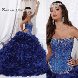 $enCountryForm.capitalKeyWord Canada - Quinceanera Dresses 2020 Sweetheart Royal Blue Beading Embroidery Ruffles Tiered Skirt Sweetheart 16 Masquerade Party Pageant Dress