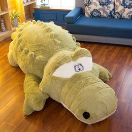 bedding padding Australia - Giant Cartoon Corcodile Plush Toy Pillow Large Animal Alligator Tatami Sofa Bed Play Pad Gift Decoration 118inch 300cm