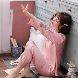$enCountryForm.capitalKeyWord Australia - 2019 Spring New Sleeping Wear Set For Women Pijamas Summer Long Sleeve Pyjama Sets Pijama Sexy Pajamas Home Clothes Fdfklak