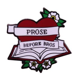 $enCountryForm.capitalKeyWord UK - Prose before bros feminist brooch flower book pin poetry break up gift bookworm badge