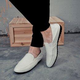 Großhandel PADEGAO Sommer Mode Freizeit Casual Müßiggänger Schuhe für Männer Weiche Bequeme Kurze Flache Slip On Schuhe Punk Retro Driving # 356365