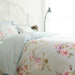 Discount girls modern bedding - Romantic American Country Style Vintage Floral Bedroom Set,Designer Shabby Girls Bedding Set,Modern Flowers Jacquard Bed