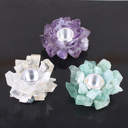 $enCountryForm.capitalKeyWord NZ - Wholesale natural crystal candle holder home decora handmade crafts purple white green colors