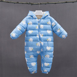 8f3f2903b59e Newborn Clothing Winter Baby Girls Boys Rompers Hooded Infant Toddler  Cotton Jumpsuits Children Kids Cartoon Outdoor Warm Coats