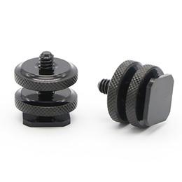 "$enCountryForm.capitalKeyWord Australia - Professional 1 4"" inch Single Dual Nuts Tripod Mount Screw to Flash Camera Hot Shoe Adapter Tripod Accessories"