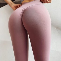 slimming workout leggings Australia - Knitting Gym Leggings Woman Sports Fitness High Elasticity Slim Fit High Waist Yoga Pants Workout Running Athletic Gym Tights Yoga Pants 36X