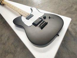 Großhandel Hoher Qualitätsspot Verkauf von Signatur Jazz Master / 6-String E-Gitarre / Maple-Hals / Matt schwarz