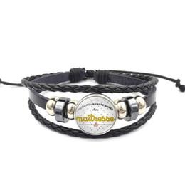 $enCountryForm.capitalKeyWord Australia - Fashion teacher weave leather Wrap bracelet For women French Merci maîtresse Letter charm bracelet 2019 Teachers' Day Jewelry Gift