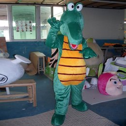 CroCodile Costumes online shopping - 2019 High quality Crocodile Alligator Plush Mascot Costume Cartoon Character Costumes Mascot Fancy party Dress Halloween Party Suit1