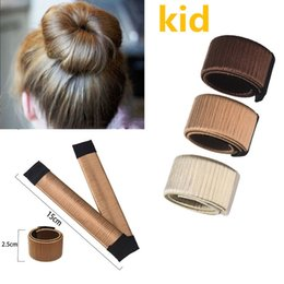 $enCountryForm.capitalKeyWord Australia - fashion 15cm 5.9inch Wig Ball Bend Bun Flexible French Bands Chignon Hair Accessories Hair Tool Kids Girls