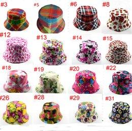 $enCountryForm.capitalKeyWord Australia - Kids Bucket Hats Anti UV Fisherman Caps Sun Protection Baby Beanie Caps Outdoor Sunproof Casual Child Hat Floral Plaid Summer Visor B71602