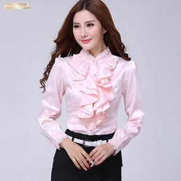 cheap clothes china NZ - Blouse Shirt Women Fashion Blouses Casual Shirts Elegant Ruffled Collar Office Female Clothing Spring Cheap Clothes China