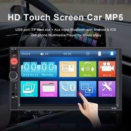 Car Console Dvd Australia - 7 inch Bluetooth HD 1080P Radio MP5 Car DVD player Digital Touch screen Multimedia player car autoradio Support Rear camera