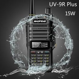 Portable cb online shopping - 2020 Baofeng UV R plus w Waterproof Walkie Talkie High Power CB Ham KM Long Range UV9R portable Two Way Radio for hunting