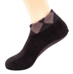 Indoor golf green online shopping - winter warm indoor floor fleece socks home yoga fitness sports footgear anti slip ault men women socks thermal stocking