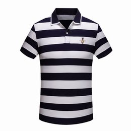 $enCountryForm.capitalKeyWord Australia - High New Novelty Men Embroidered Bees Stripes Fashion Polo Shirts Shirt Hip Hop Skateboard Cotton Polos Top Tee #g2