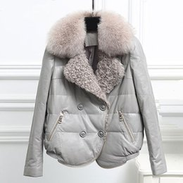 $enCountryForm.capitalKeyWord Australia - 2019 New Women Real Fox Fur Coat Short Winter down sheepskin genuine leather Fur Jacket Outerwear thick warm real coats