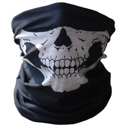 Bicycle Black Ghost Australia - Outdoor Sport Mountain Bike Bicycle Ski Skull Half Face Mask Ghost Scarf Multi Use Neck Skeleton Scarf Riding Masks