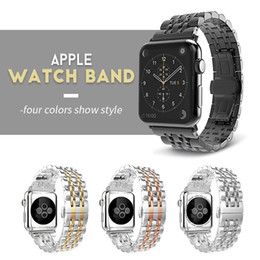 $enCountryForm.capitalKeyWord Australia - Stainless Steel Strap For Apple Watch Band 38mm 42mm 7 Links Watchband Smart Watch Metal Bracelet For Apple Watch Series 4 3 2 1 T190620