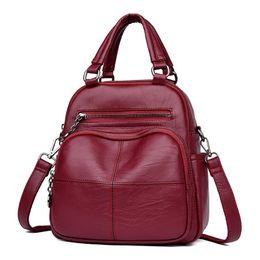 Ladies Leather Mini Backpack Australia - Small Mini Bag Women Shoulder Bags Crossbody Women Genuine Leather Backpack Women Korean Style Bag Mochila Feminina