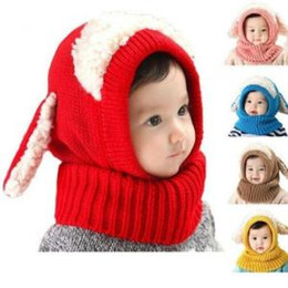 $enCountryForm.capitalKeyWord Australia - Baby Dog Knitted Crochet Cap Scarf 5 Colors Cloak Earflap Cartoon Hooded Hat Children Ear Hats OOA6281