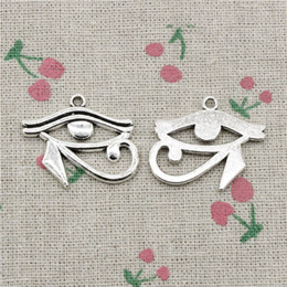 Egypt Pendants Australia - 35pcs Charms ancient egypt eye of Horus 33*27mm Tibetan Silver Vintage Pendants For Jewelry Making DIY Bracelet Necklace