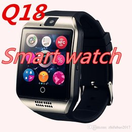 Bluetooth Smart Watch Sim Australia - Q18 Smart Watch Clock With Sim TF Card Slot Bluetooth suitable for ios Android Phone Smartwatch PK DZ09 A1