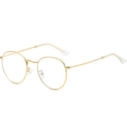clear acrylic glasses frames Australia - 2019 New Brand Design Plain Glasses Alloy Frame Women Glass Classic Round Clear Lens Spectacles Elegant Vintage Eyewear