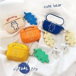earphone bear Australia - Cute Cartoon Bear Earphone Case for caja de airp Silicone Soft Ear Buds Cover for air pods pro case Accessories cas airpods