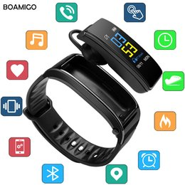 smart music 2019 - Smart Answer Call bracelet Color Screen Heart Rate Monitor Wristband For Android IOS Phone Women Men Music control Smart