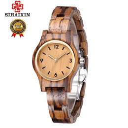 unique watches Australia - Sihaixin Small Wood Quartz Wrist Watch For Women Analog Simple Vintage Unique Sandal Wooden Band Ladies Watches Y19062402
