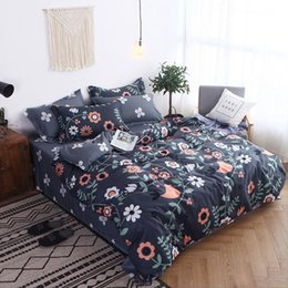 bird comforter sets 2019 - Bird Flower 4pcs Girl Boy Kid Bed Cover Set Cartoon Duvet Cover Child Bed Sheets And Pillowcases Comforter Bedding Set 2