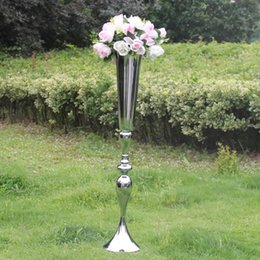 $enCountryForm.capitalKeyWord UK - 2019 Royal Gold Silver Tall big Flower Vase Wedding Table Centerpieces Decor Party Road Lead Flower Holder Metal Flower Rack For DIY Event