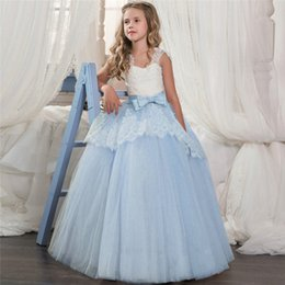 $enCountryForm.capitalKeyWord NZ - Children's dress princess dress sleeveless flower girl wedding dress girls performance clothes piano costumes gauze pettiskirt