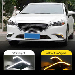 mazda wholesale NZ - 2Pcs LED DRL Daytime Running light For Mazda 6 Mazda6 Atenza 2016 2017 2018 Driving Day Fog Lamp Lights
