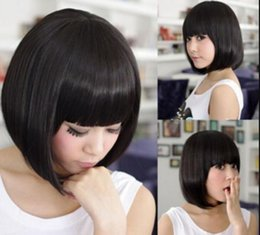 $enCountryForm.capitalKeyWord Australia - WBY MISS 002845 Womens Straight Bob Hair Full Wigs Cosplay Costume Wig