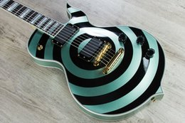 $enCountryForm.capitalKeyWord Australia - Wylde Audio Odin Grail Gangrene Metallic Green W  Black Bullseye Electric Guitar Large Block Inlay, Little Pin ABR-1 Bridge, Gold Hardware