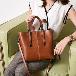 $enCountryForm.capitalKeyWord Australia - 1Will Bag Ma'am 2019 Concise Hundred Take The Hand Handbag Split Joint Single Shoulder Satchel Tide