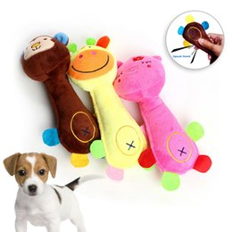 small plush dogs NZ - Cat Plush Chew Squeak Toy For Small Large Dog Pet Dog Toy Pet Traning Supplies Dogs Sound Toys Dogs Playing Chewing Toys