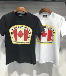 ab4a2d61ef9fa3 19ss Caten ICON Été Hommes Canada Feuille D érable Imprimé T-shirt Hommes  Slim Fit Mode 100% Coton Vintage T Chemises Haute Qualité Marque Vêtements