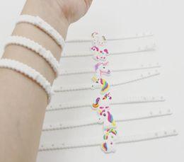 $enCountryForm.capitalKeyWord Australia - Creative Wrist Ring with Unicorn Silica Gel for Environmentally Friendly PVC Sports Chains