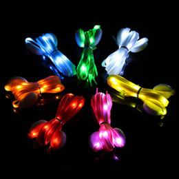 $enCountryForm.capitalKeyWord Australia - Fashion Led Shoelaces Light Festival Home Party Decoration Colors LED Running Multicolor Battery Powered Flashing Glow Shoe