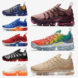 Usa Games Australia - 2019 New listing Smokey Rainbow MauveTN Plus Running shoes Fades Blue Rainbow Game Royal USA Mens Designer sneakers Outdoor sports shoes