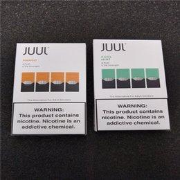 Venta al por mayor de DHL FREE JUUL pod 4 juul pod en un paquete de 8 sabores Fruta fresca de menta y mango popular para el kit de inicio JUUL